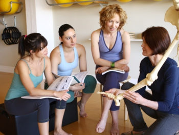 Body Harmonics US Certified Pilates Teachers in a course at ReActive Movement Pilates Studio